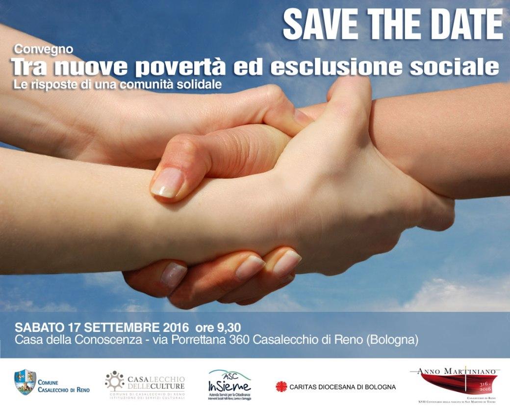 Save the Date_Convegno tra nuove povertà ed esclusione sociale